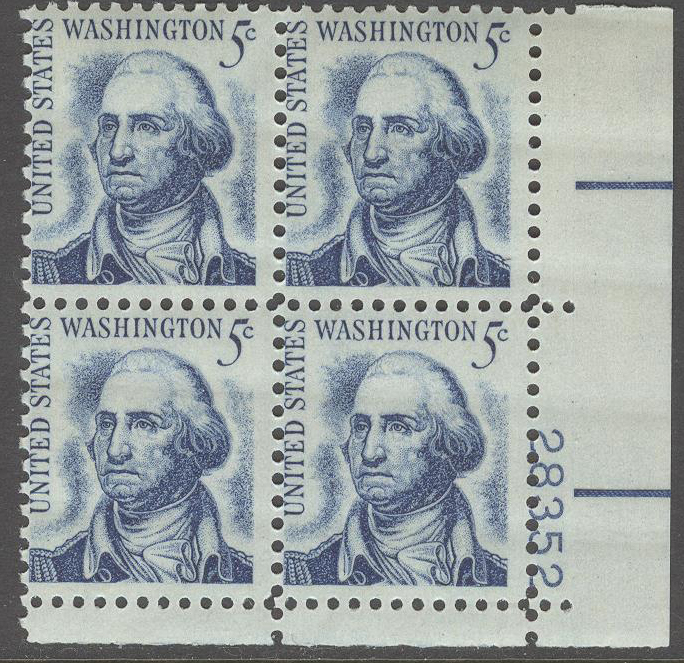 USA - M  895 Xa x 4 George Washington, 4-Block kpl **