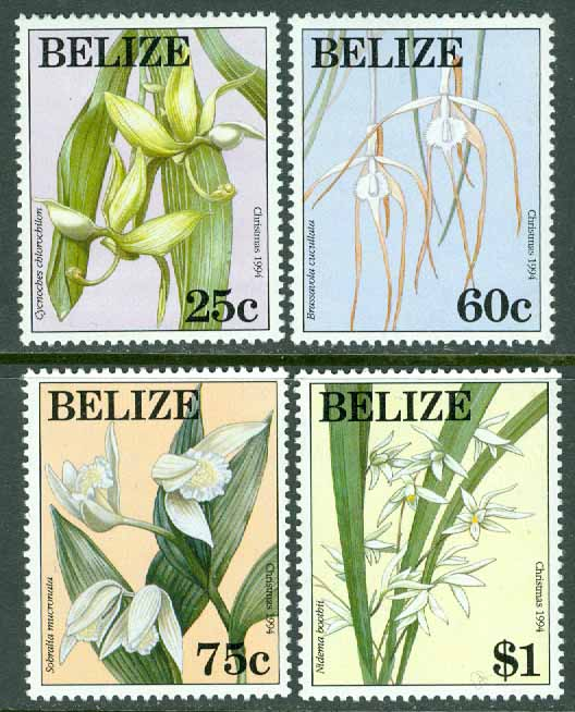 Belize - M 1130-1133 Jul 1994, orkidéer, 4 kpl **