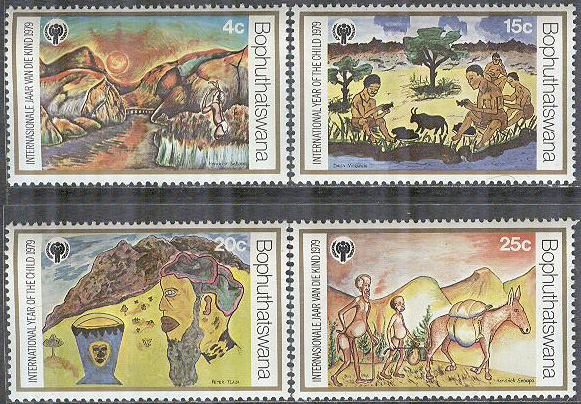 Bophuthatswana - M   43-46 Internationella Barnåret 1979, 4 kpl **