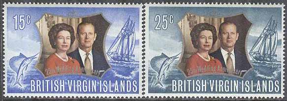 British Virgin Islands - M  237-238 Engelska Kungaparets silverjubileum, 2 kpl **