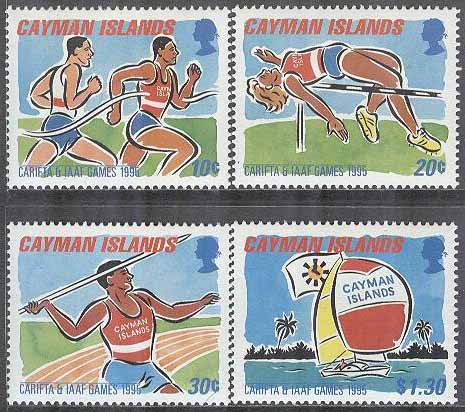 Cayman Islands - M  733-736 Sport - Internationella Karibiska spelen 1995, 4 kpl **