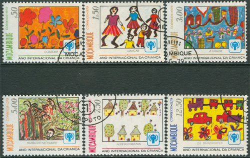 Mocambique - M  694-699 Internationella Barnåret 1979, serie 6 kpl