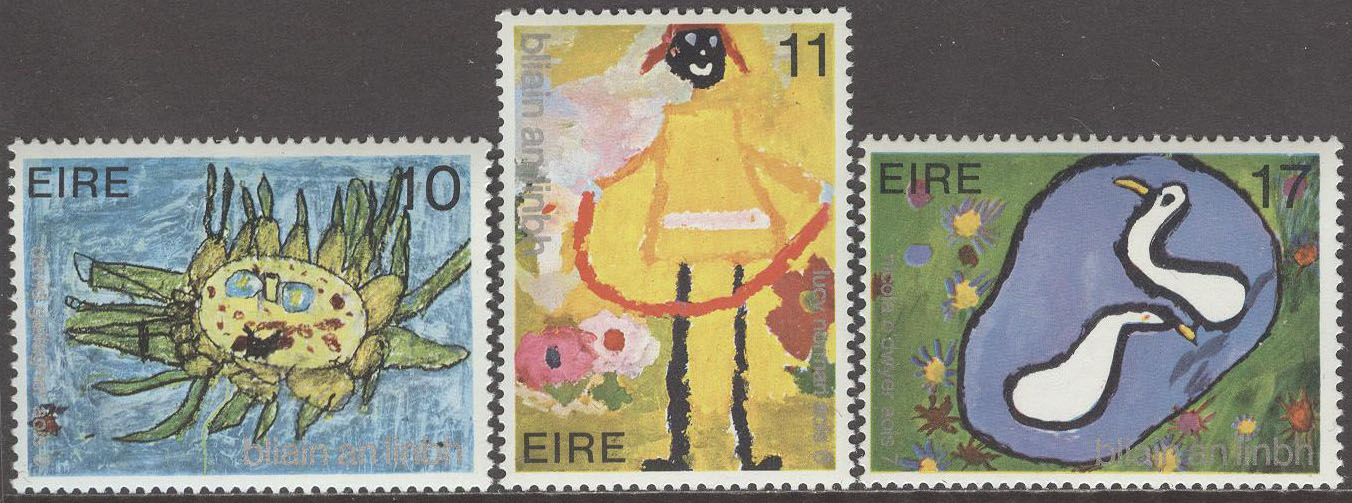 Irland - M  401-403 Internationella Barnåret 1979, serie 3 kpl **