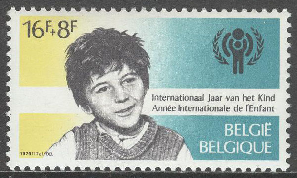 Belgien - M 2009 Internationella Barnåret 1979, märke kpl **