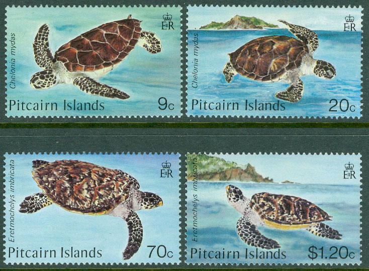 Pitcairn Islands - M  274-277 Sköldpaddor, 4 kpl **