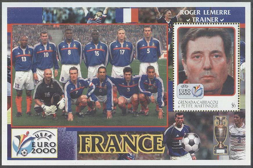 Grenada Grenadines - M BL 491 EM i Fotboll i Belgien   Holland 2000 8ee18b0b1d646