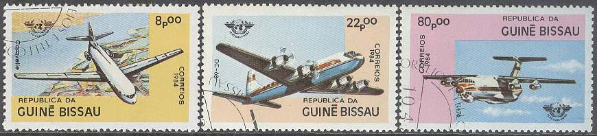Guinea-Bissau - M  754-756 Flyg - Internationellt Civilt Flyg 75 år, 3 kpl