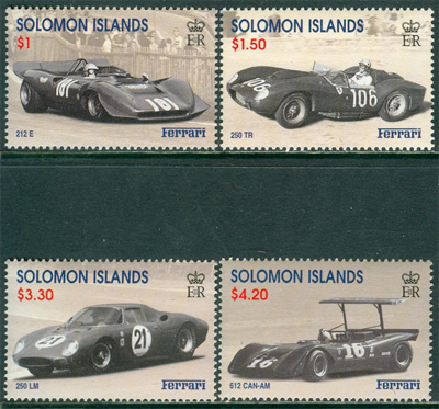 Solomon Islands - M 1006-1009 Bilar - Ferrari bla 612 CAN-AM, 4 kpl **
