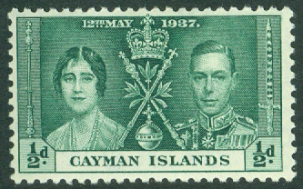 Cayman Islands - M   98 George V`s kröning, ½ P *