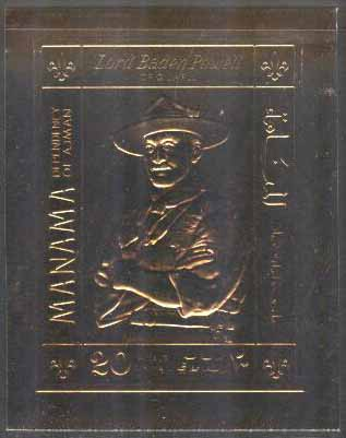 Manama - M  261 B Scouting - Lord Baden-Powell - Guldtryck, 1 kpl **