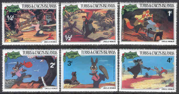 Turks & Caicos Islands - M  554-559 Disney - Onkel Remus, 6 ol**
