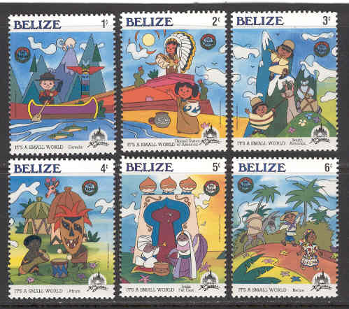 Belize - M  829-834 Disney - It´s a small world, 6 ol**