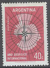 Argentina - M  684 Internationella Geofysiska året 1957/1958, 1 kpl **