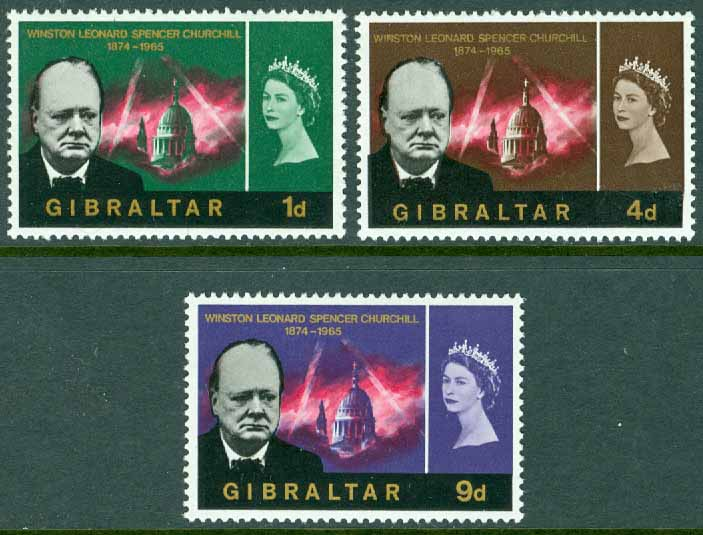 Gibraltar - M  174-176 Sir Winston Churchill, 3 ol **