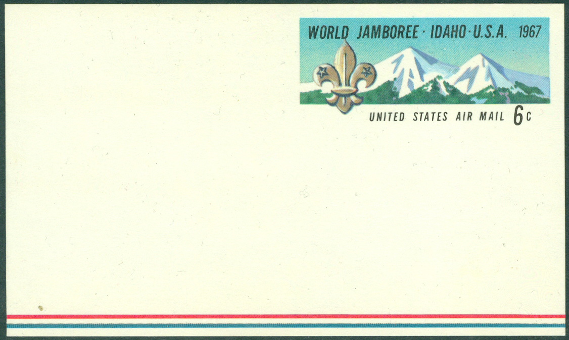 USA - Scouting - Postkort World Jamborée i Idaho USA 1967