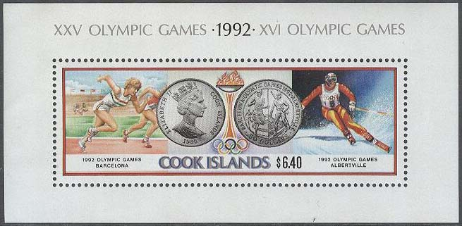 Cook Islands - M BL 202 OS i Albertville & Barcelona 1992, Block **