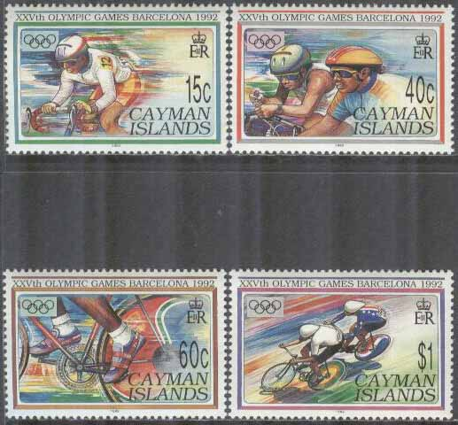 Cayman Islands - M  667-670 OS i Barcelona 1992 Cykel, 4 kpl **