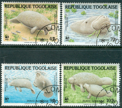Togo - M 1763-1766 Manater - Naturskydd - WWF, 4 kpl
