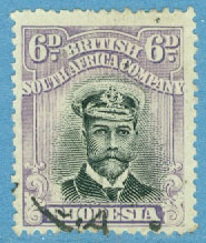 British South Africa  Company - M  127 I Kung George V, 6 P stpl