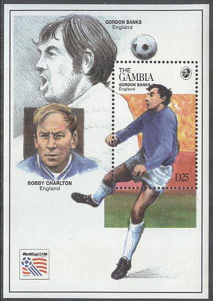 Gambia - M BL 238 VM i Fotboll i USA 1994 Gordon Banks, Block **