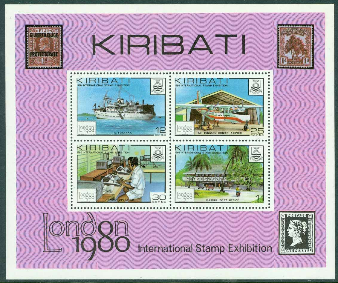 Kiribati - M BL   7 Int. Frim.utst. London 1980, block **
