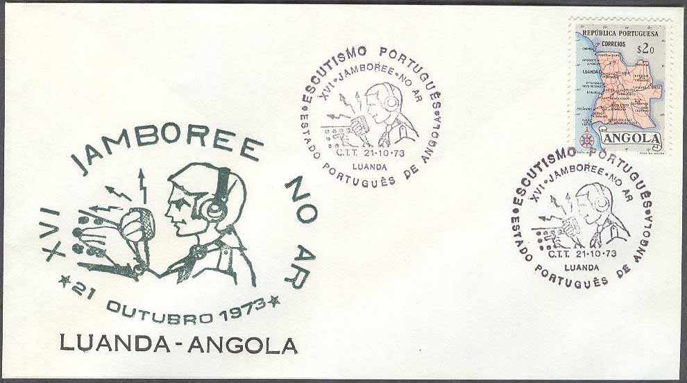 Angola - Minnespost 1973-10-21 - Scouting, kpl