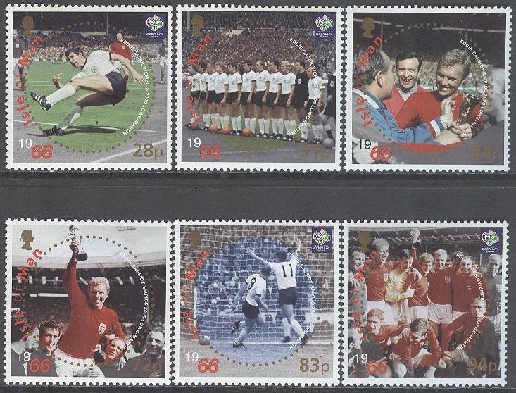 Isle of Man - M 1295-1300 Fotboll - VM 1966 40 år - VM 5ab453a29568c