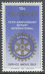 Transkei - M   70 Rotary International 75 år, 1 kpl **