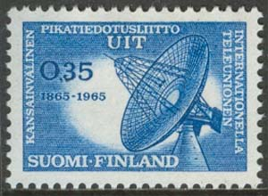 Finland - F  609 Internationella Teleunion ITU 100 år, 1 kpl **