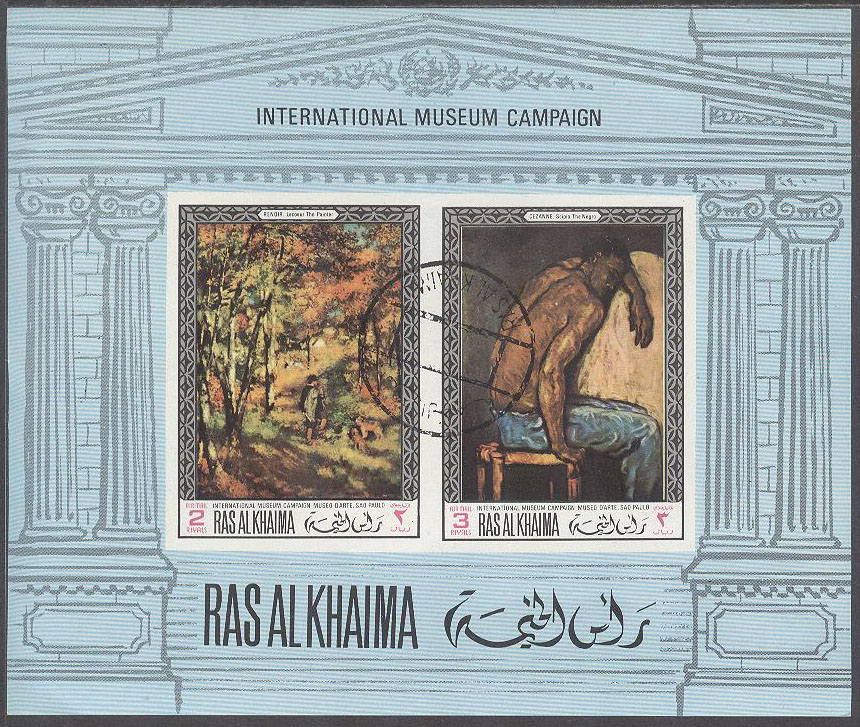 Ras Al Khaima - M BL  45 B Konst på Nationalgalerian i London, Block
