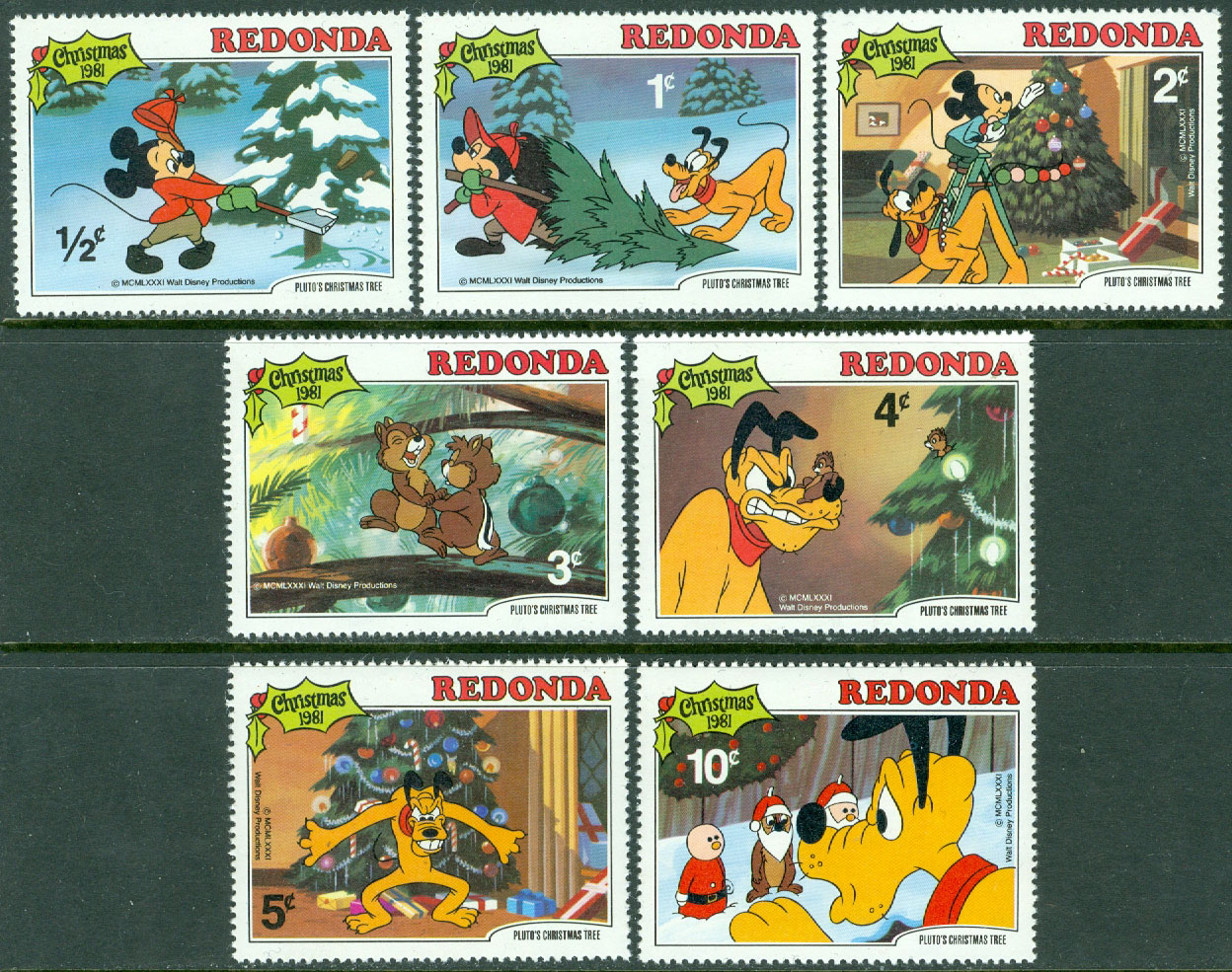 Redonda - M   81-87 Disney, Plutos jul 1981, 7 ol**