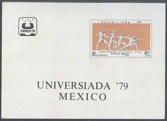 Mexiko - M BL  24 Sport - Universiaden i Mexiko City 1979 II, Block **