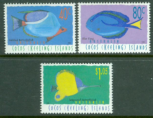 Cocos Islands - M  340-342 Fiskar, 3 kpl **