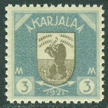 Karelen - F   10 Vapentyp, 3 mark *