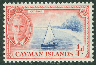 Cayman Islands - M  123 George VI, fiskebåt, 1/4 P **
