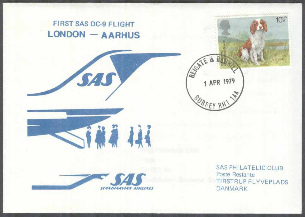 England - 1979-04-01 - First SAS DC-9 Flight London - Aarhus