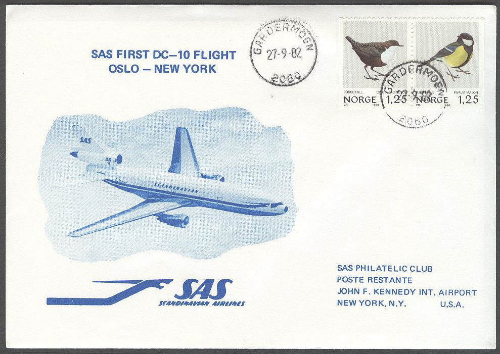 Norge - 1982-09-27 - SAS First DC-10 Flight Oslo - New York