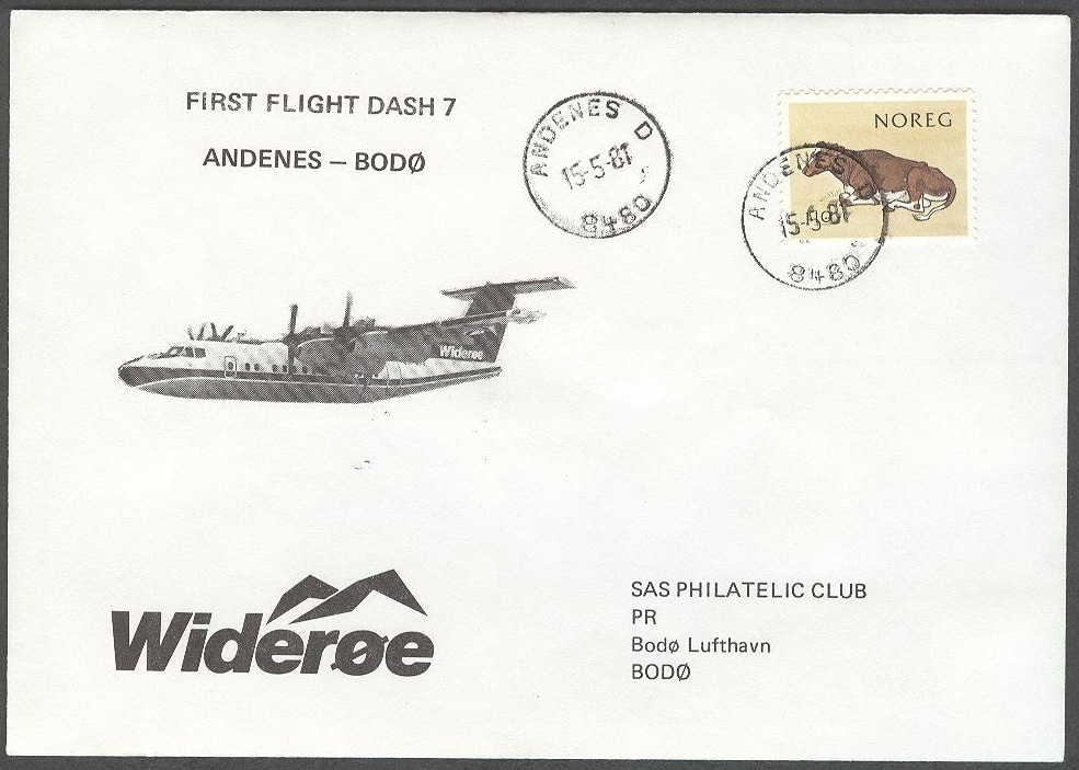 Norge - 1981-05-15 - First Flight Dash 7 Andenes - Bodø