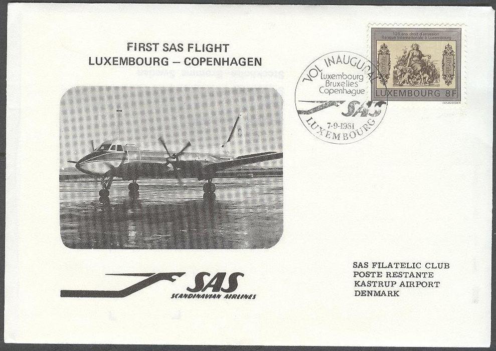 Luxemburg - 1981-09-07 - First SAS Flight Luxembourg - Copenhagen