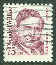 USA - M 2210 Wendell Willkie, presidentkandidat, 1 kpl stpl
