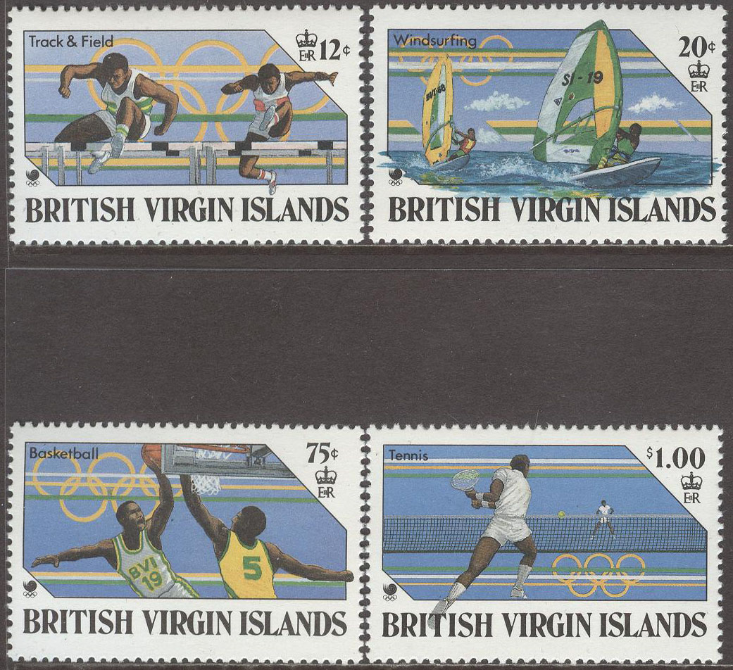 British Virgin Islands - M  621-624 OS i Seoul 1988 bla Tennis, 4 kpl **