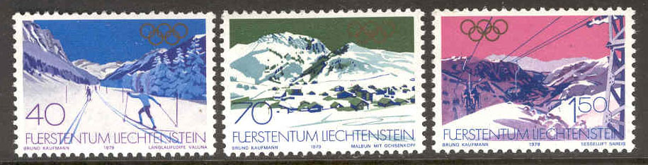 Liechtenstein - M  735-737 OS i Lake Placid 1980, 3 kpl**