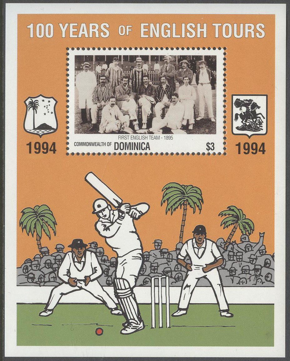 Dominica - M BL 271 Cricket - England-Västindien 100 år, Block **
