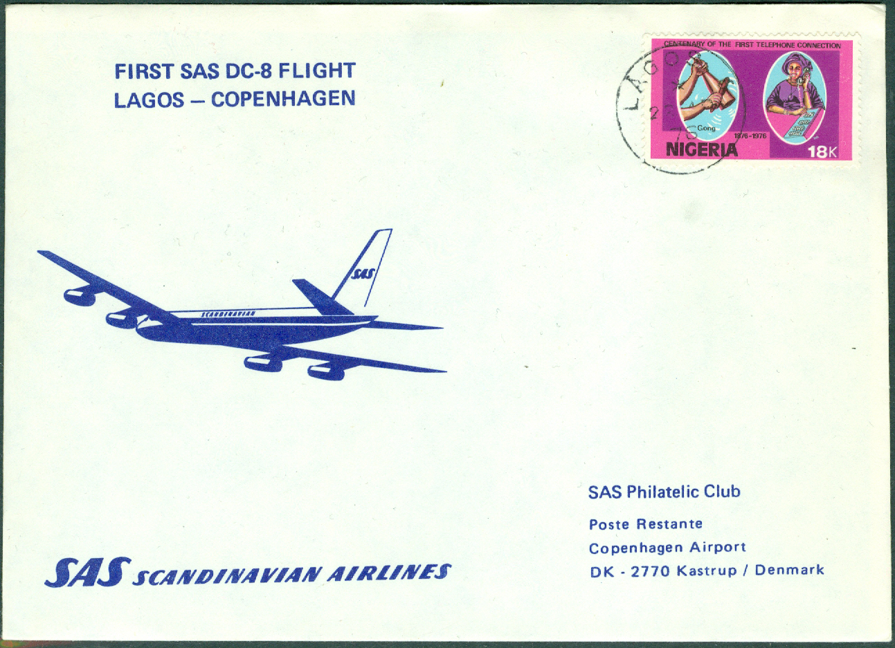 Nigeria - 22-4-70 - First SAS DC-8 Flight Lagos - Copenhagen