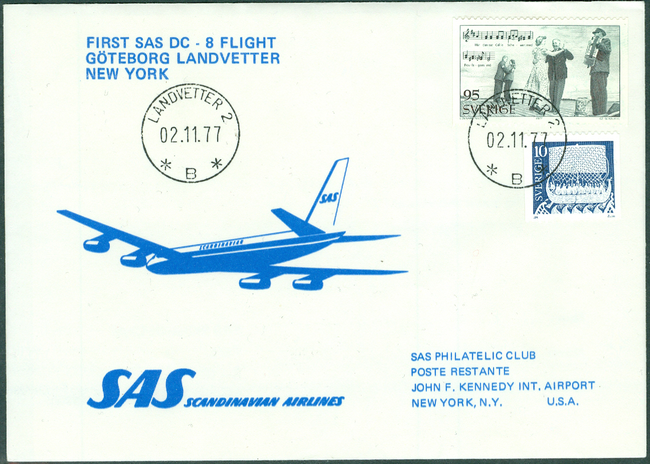 Sverige - 1977-11-02 - First SAS DC-8 Flight Göteborg - Landvetter - New York