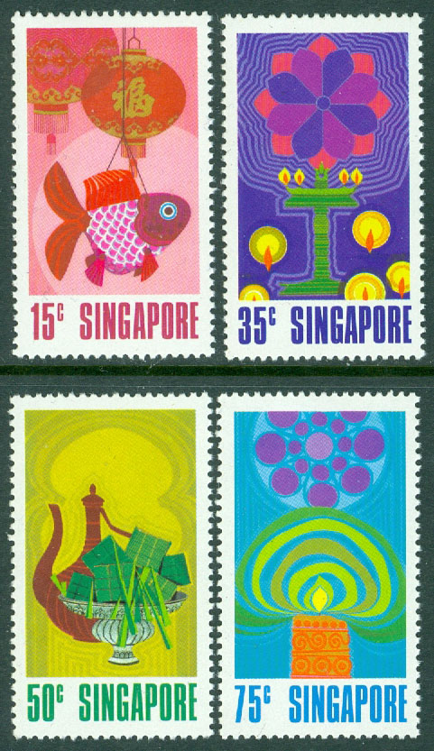 Singapore - M  160-163 Nationaldagen, 4 kpl **
