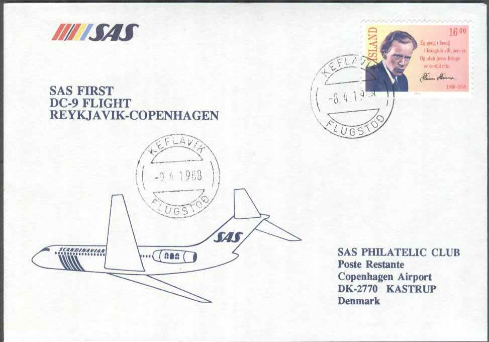 Island - 1988-04-09 - SAS First DC-9 Flight Reykjavik - Copenhagen