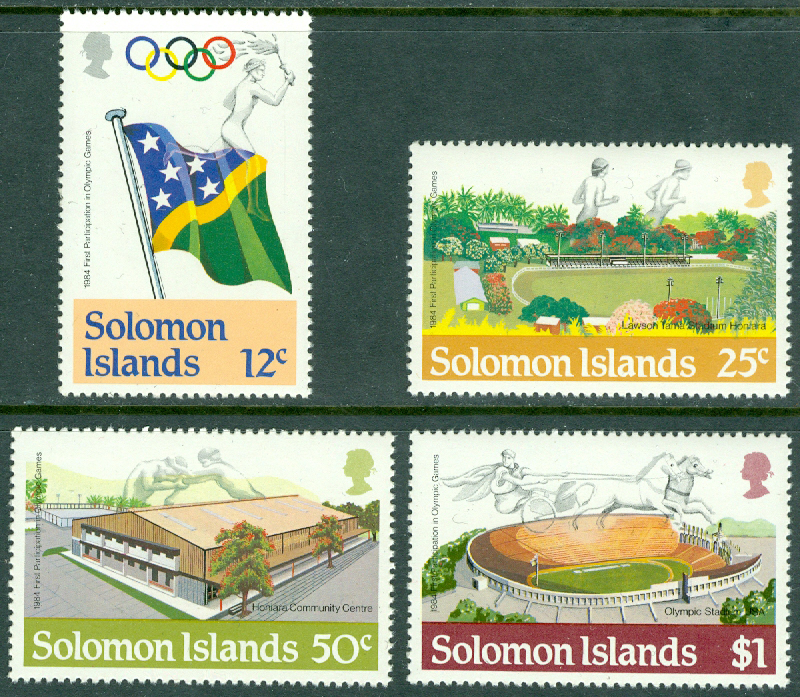 Solomon Islands - M  536-539 OS i Los Angeles 1984, 4 kpl **