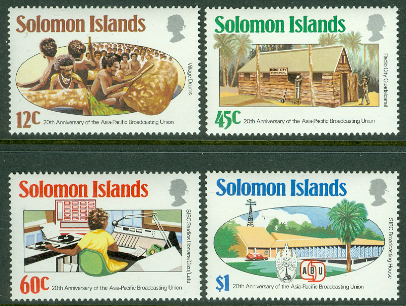 Solomon Islands - M  532-535 Asiatisk-Pacific radiounionen 20 år, 4 kpl **