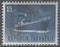 Indonesien - M  514 Transport - Passagerarfartyg - Påtryck, 15 R **